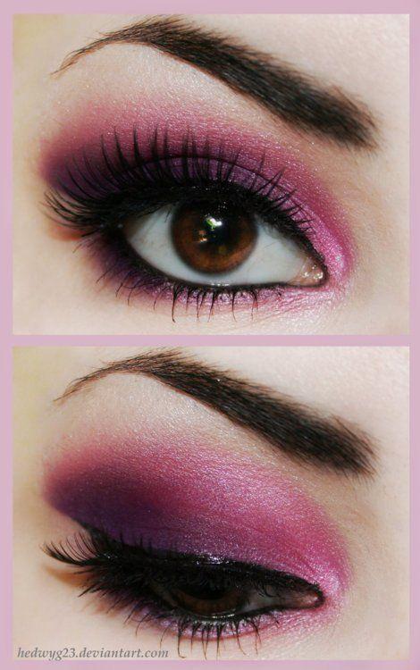 Purple.: Brown Eye, Eye Shadows, Pink Eye Makeup, Valentines Day, Makeup Eye, Eyeshadows, Eyemakeup, Smokey Eye, Green Eye