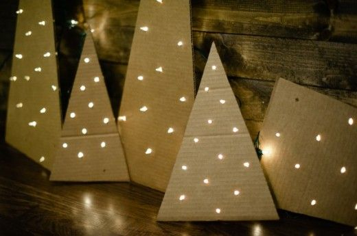 DIY cardboard christmas trees, by You Are My Fave