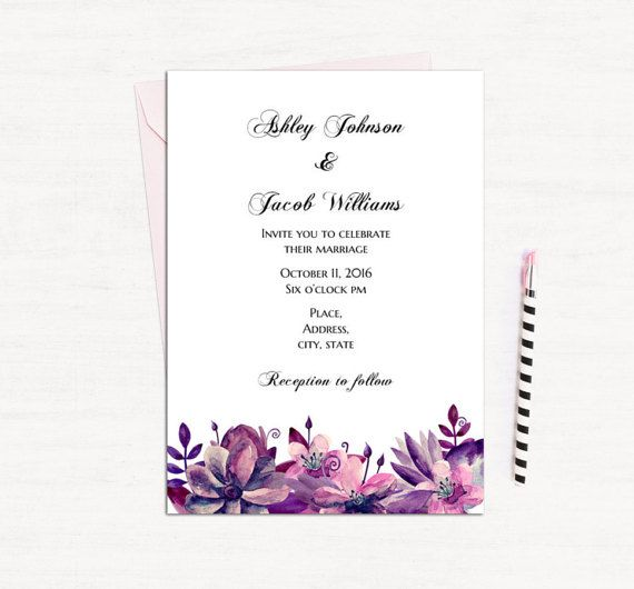 96 best Wedding invitations images on Pinterest Place cards - invitation templates for word