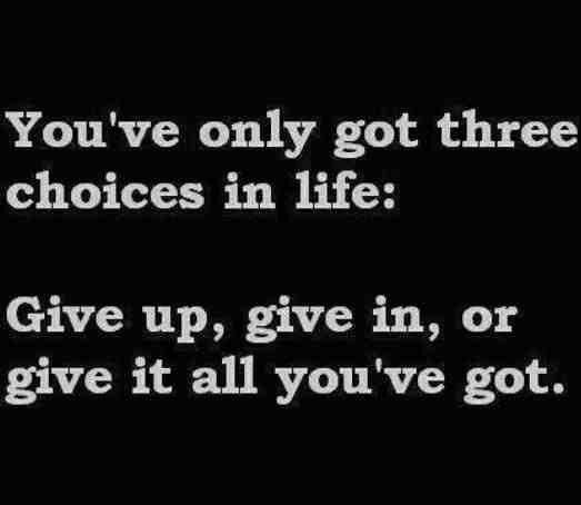 You've only got 3 choices...