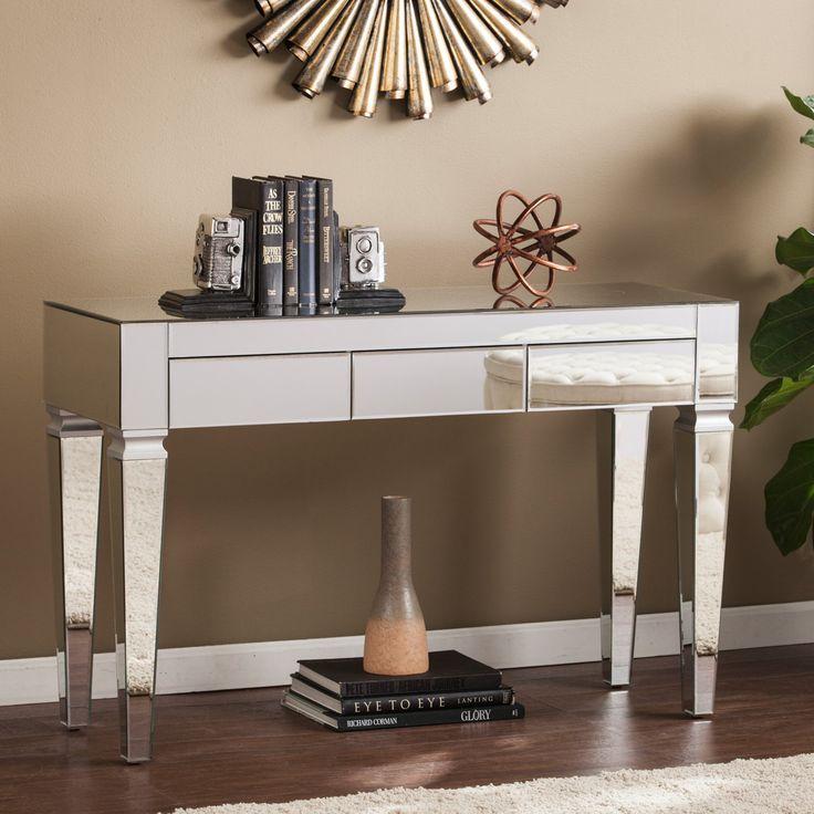 Southern Enterprises Darien Contemporary Mirrored Console Table - CK3693