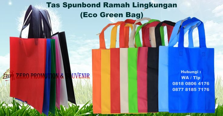Jual Tas Spunbond Ramah Lingkungan (Eco Green Bag)