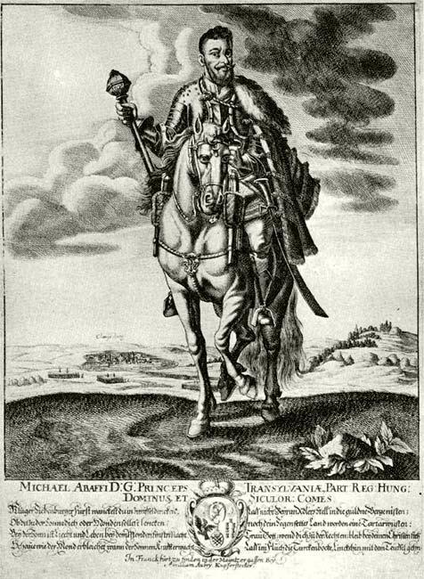 Apafi Mihály, Erdély fejedelme (1661–1690). Aubry Ábrahámnál Frankfurtban megjelent egykoru rézmetszet.