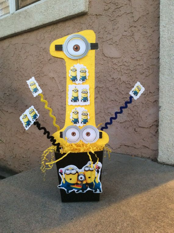 Despicable Me Birthday Party Centerpiece By FantastikCreations