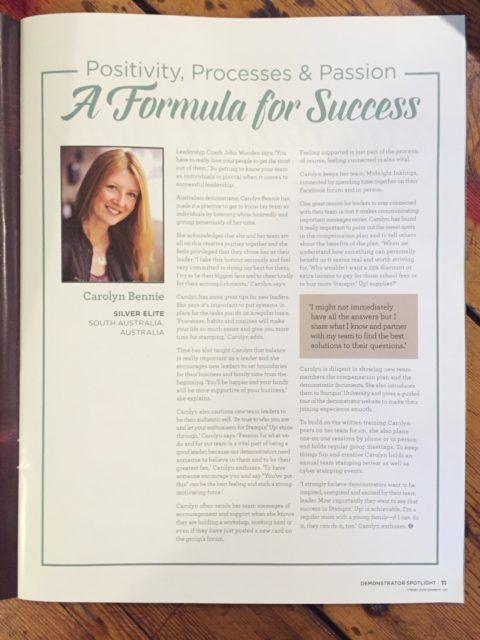 Stampin' Success - Carolyn Bennie carolynbennie.com
