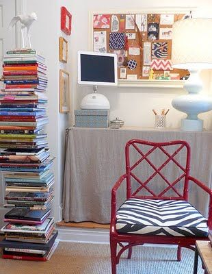love the chair and stacks of books
