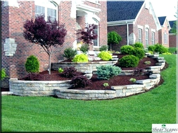 ideas front yard landscaping small rectangular front garden ...