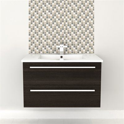 Wall Hung Vanity - DARK CHOCOLATE #vanity #drawers #sink #darkcabinets #darkwood #bathrooms #interiordesign #renovations #CutlerKitchenandBath