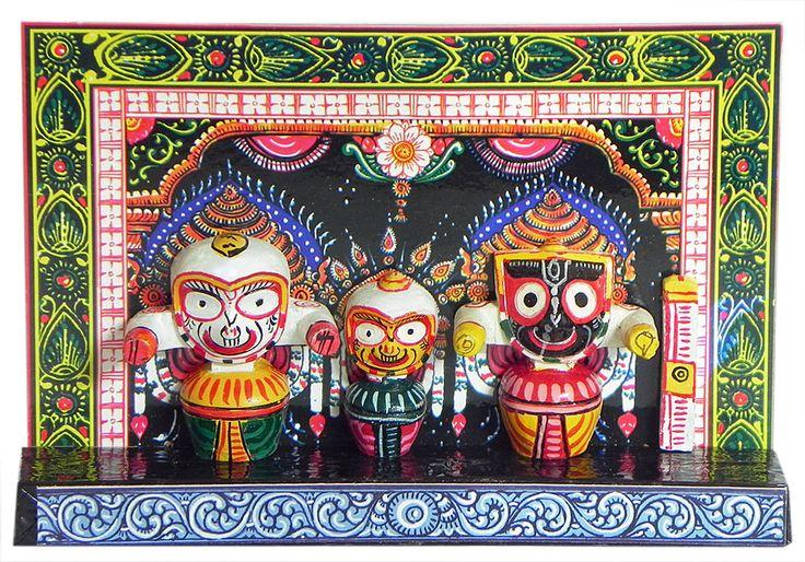 Jagannath, Balaram and Subhadra (Wood)