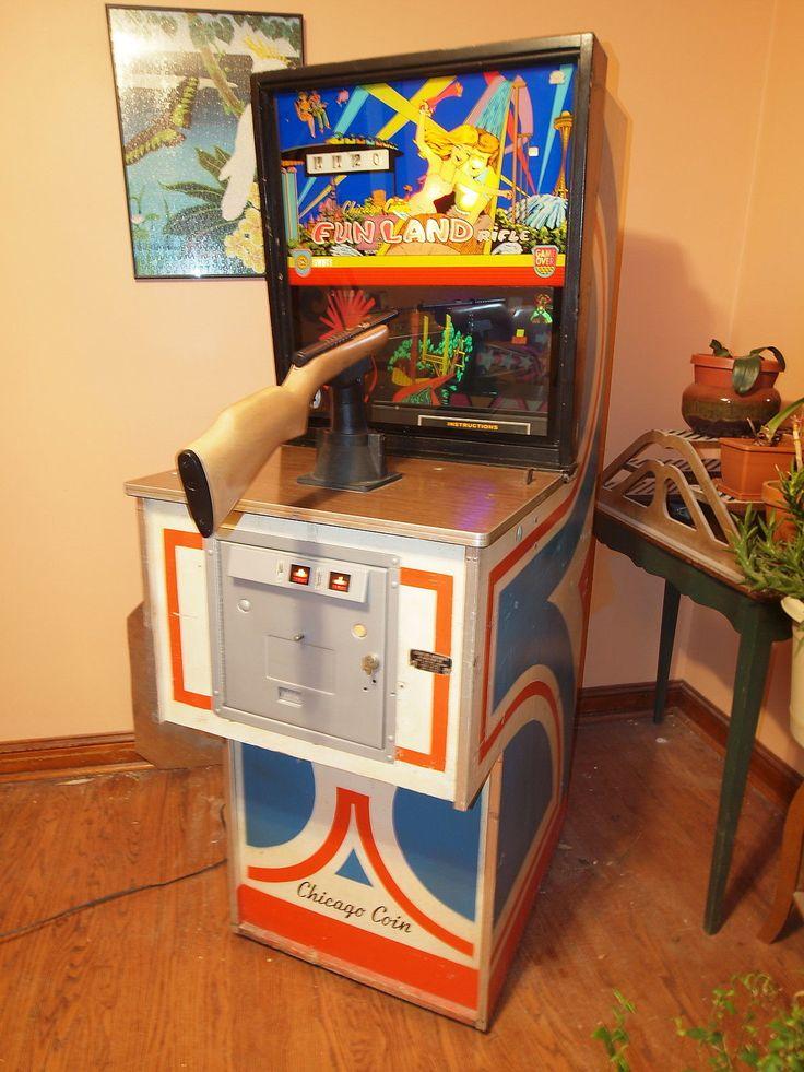 Vintage Arcade Games >> Vintage 1974 Chicago Coin, Fun Land Rifle Arcade Game / Shooting Gallery | Coins, Chicago and Arcade
