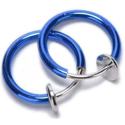 Обманка кольцо сталь анодирование сапфир, 1 шт. купить красивые украшения обманки клипсы в интернет-магазине Crazy Jewelry по цене 44,00 грн