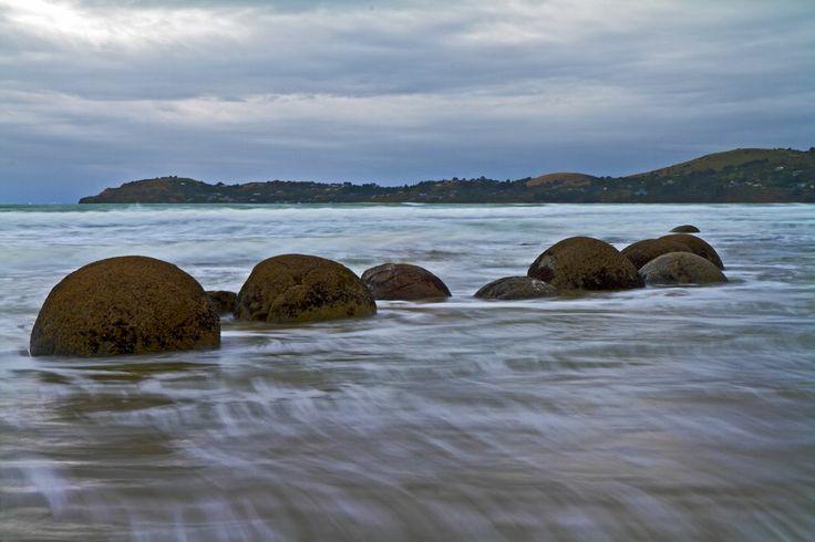 Moeraki Boulders, Hampden, South Island, New Zealand.