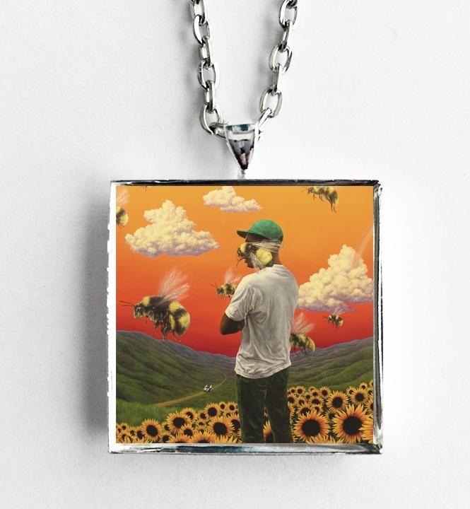 Tyler the Creator - Flower Boy - Album Cover Art Pendant Necklace