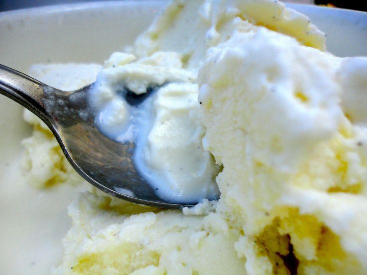 Raw cream, raw egg vanilla ice cream... yes please.