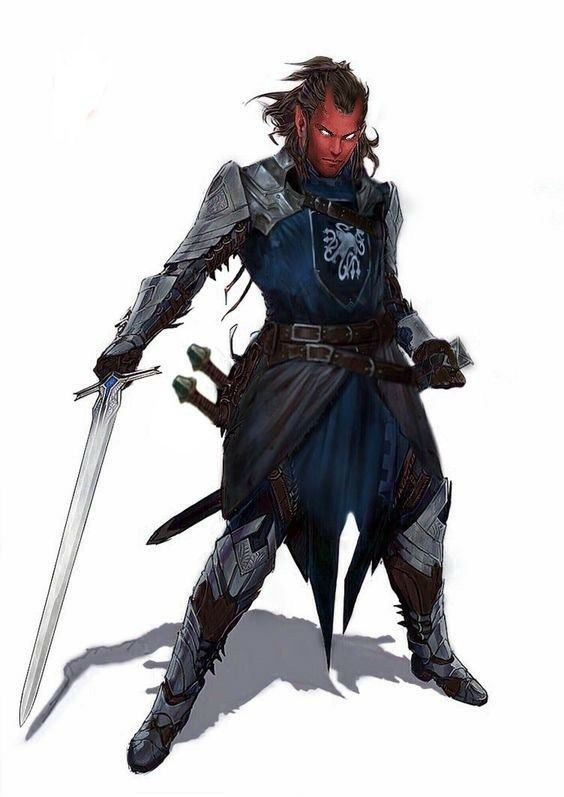 Sirick is quite the fighter, carving his name out as a heroic tiefling enforcing wandering justice. Famously self-obsessed.