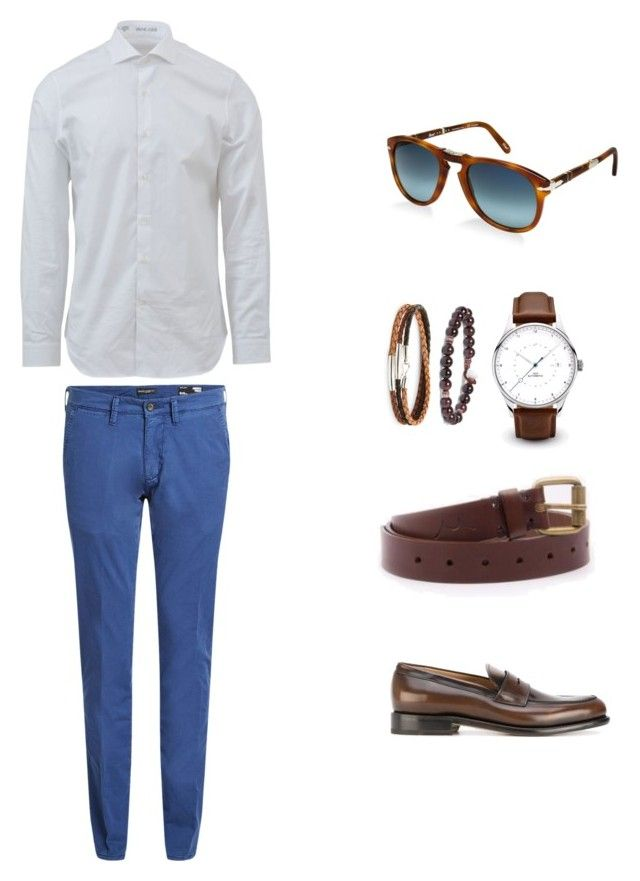 """Без названия #7"" by hyzirt on Polyvore featuring Salvatore Ferragamo, Edwin, Mikia, Caputo & Co., Persol, Baldessarini, men's fashion и menswear"