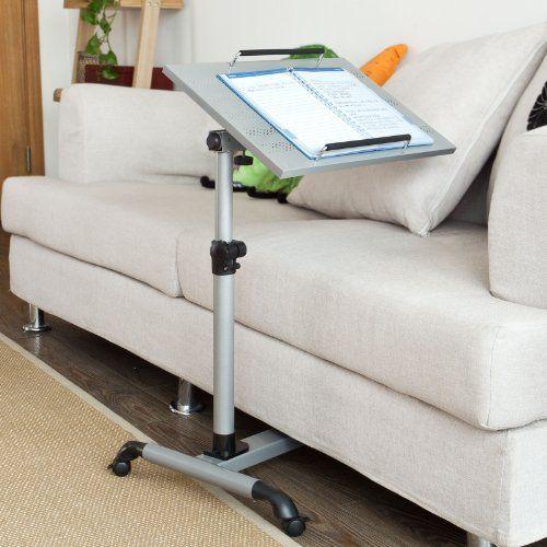 Sobuy mesa auxiliar con ruedas mesas de centro mesas - Mesas para ordenadores portatiles ...