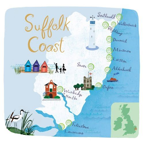 Anne Smith: 3 new maps for Beautiful Britain magazine