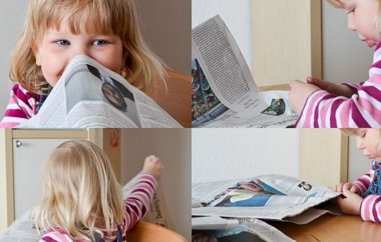 Zabawy z gazetami