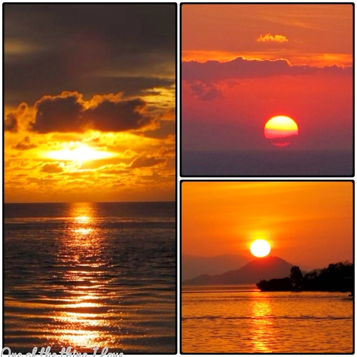 Sunset Komodo Island Indonesia