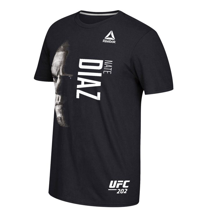 Nate Diaz Reebok UFC 202 Face T-Shirt - Black - $23.99