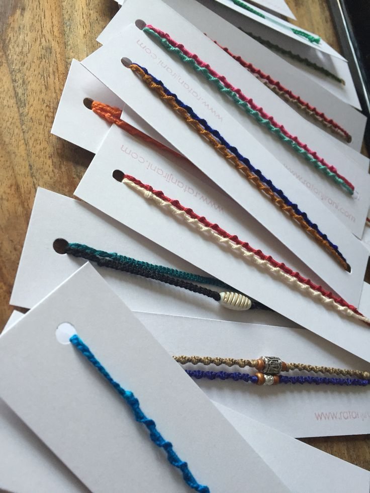 Simple packaging for some beautiful rakhi bracelets.
