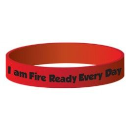 """Ace's """"I am Fire Ready Every Day"""" Silicone Wristband"""