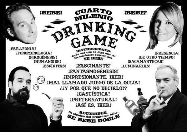 """Cuarto Milenio"" Drinking Game"