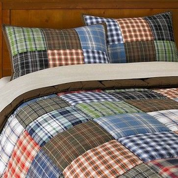 Patch Plaid Quilt & Sham contemporary kids bedding