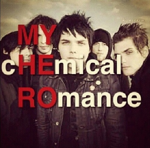 MY cHEmical ROmance  OMG I get it now. The black parade album(: