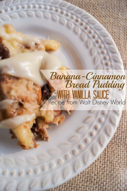 Banana-Cinnamon Bread Pudding with Vanilla Sauce – Tusker House