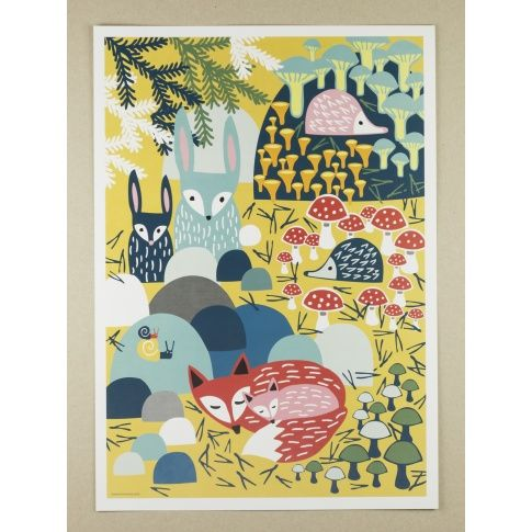 Plakat A3 Metsänaapurit - MagiaPolnocy.pl sklep w stylu skandynawskim. #muumuru