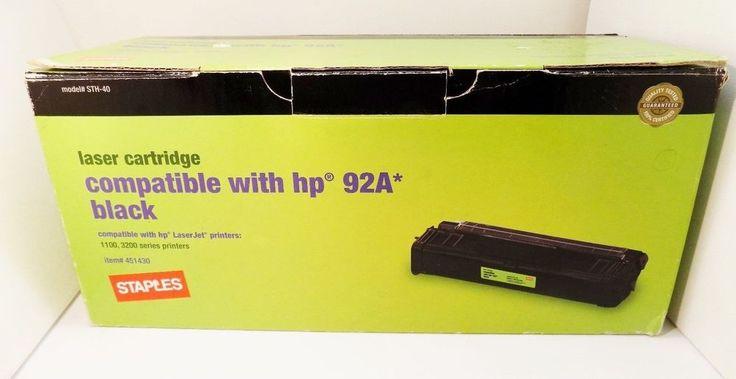 Staples HP 92A C4092A Laser Toner Cartridge 1100 3200  Item# 451430 New in Box #HP