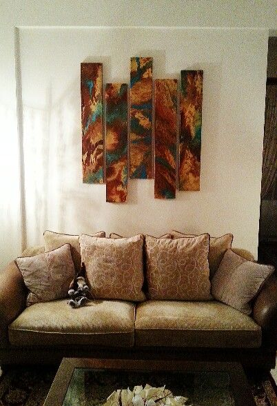 my last 5-piece abstract painting . handmadeemotions by spiros papandrianos