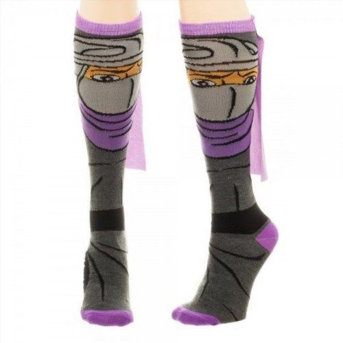 10.50$  Watch here - http://viena.justgood.pw/vig/item.php?t=8vp71a31636 - Shredder Teenage Mutant Ninja Turtles TMNT Cape Knee High Socks 10.50$