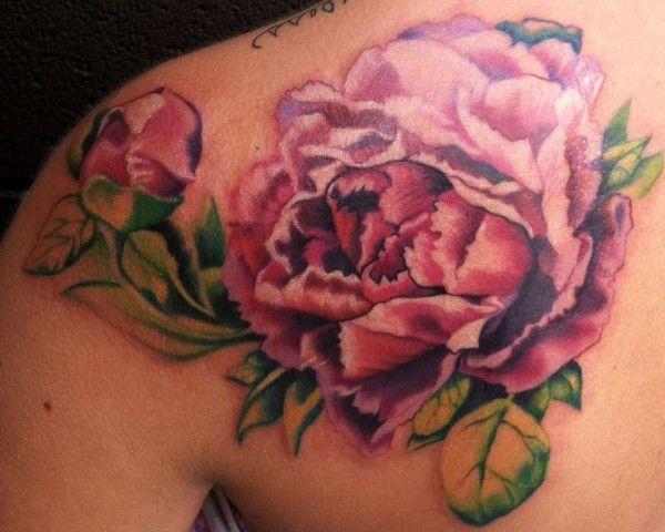 tatuagem de peônia