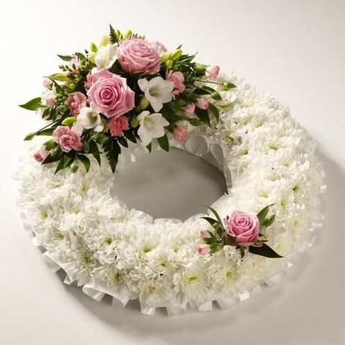 Classic White Wreath   Urban Design Flowers