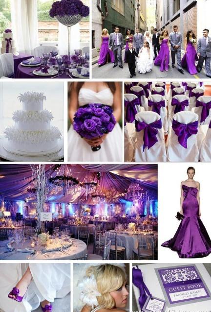 Purple Is Elegant And Mystical Do You Like Wedding Theme