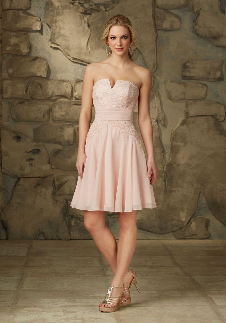 93 best bridesmaid dresses images on pinterest brides for Mori lee pink wedding dress