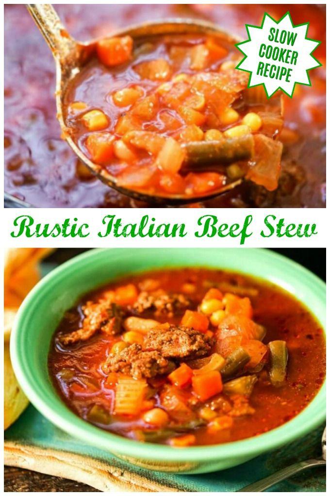 Italian Beef Soup Recipe In 2020 Italian Beef Stew Recipe Italian Beef Stew Italian Beef Crockpot