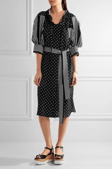 Stella McCartney | Valeria ruffled printed silk dress | NET-A-PORTER.COM