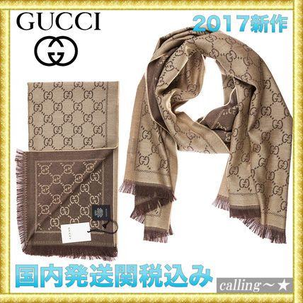 セレブ愛用者多数☆GUCCI☆Women's wool scarf jacquard