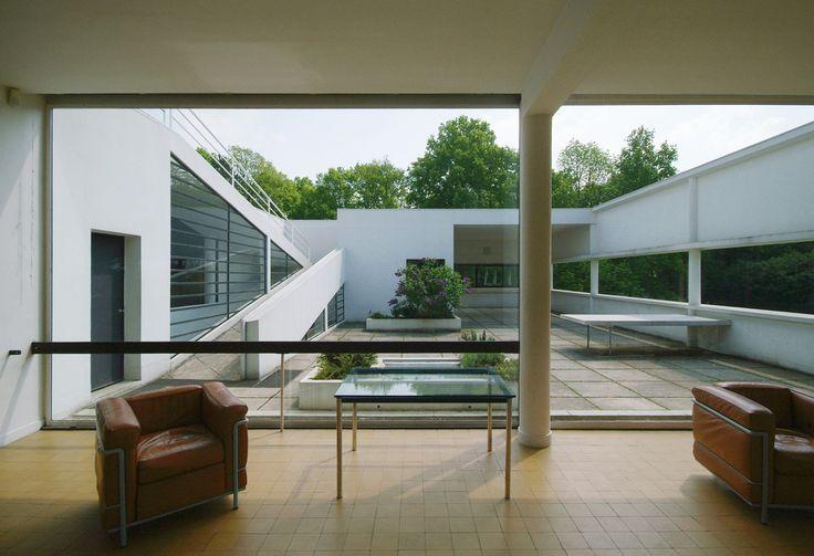 https://flic.kr/p/94HggZ | Villa Savoye: view toward the roof garden from the living room |  architect: Le Corbusier location: Poissy, Île-de-France