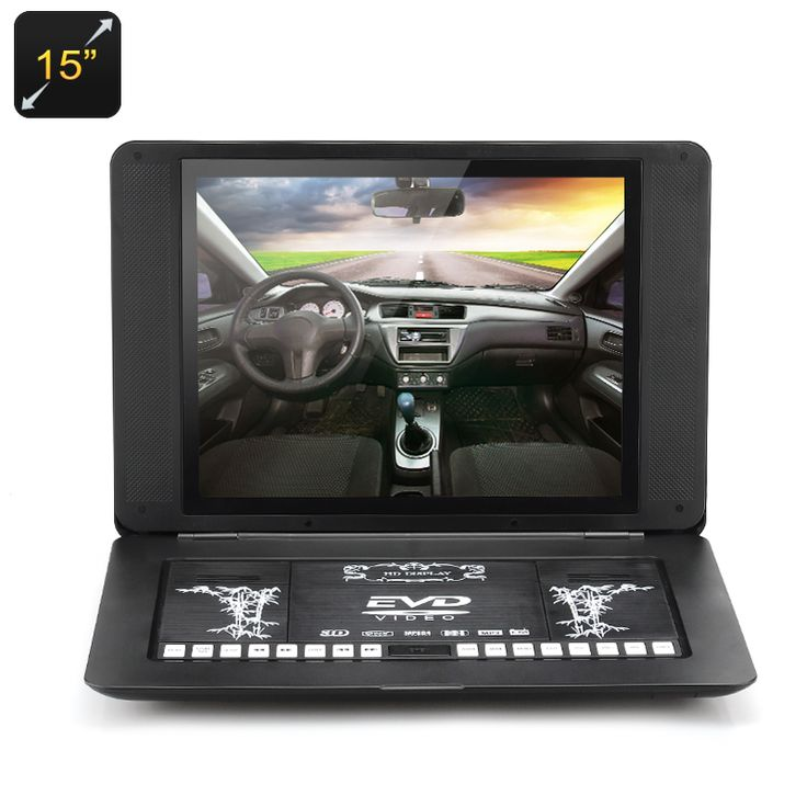 Image of 15 Inch Portable DVD Player - Copy Function, TFT LED
