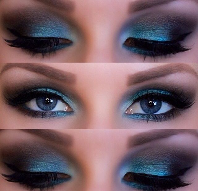Makeup | teal smokey eye makeup