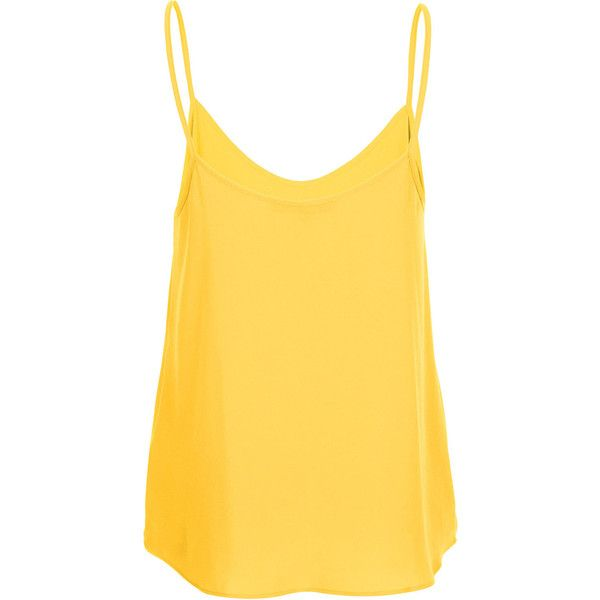 TOPSHOP Strappy Cami Top (21.865 CLP) ❤ liked on Polyvore featuring tops, shirts, tank tops, yellow, blusas, camisole tank top, camisole tops, strappy tank top, yellow cami and strappy shirt