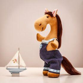 Красивые Игрушки: Текстильная лошадь - символ нового 2014 года!