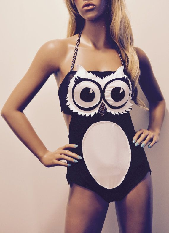 Nice Hooters Owl One-Piece Swimsuit by BettyFelonFashions on Etsy