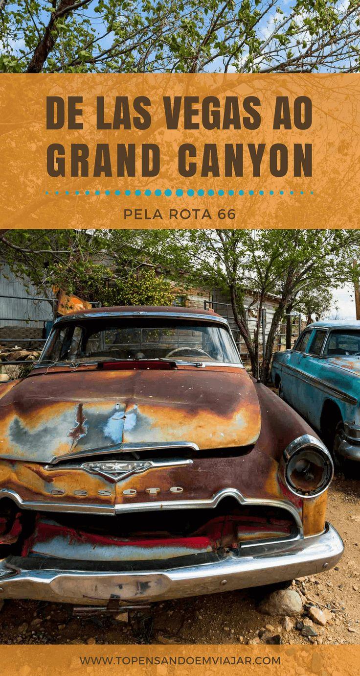 De Las Vegas ao Grand Canyon passando pela Rota 66 Histórica no Arizona, conhecendo o Lake Mead, a cidade fantasma de Chloride, e muito mais!