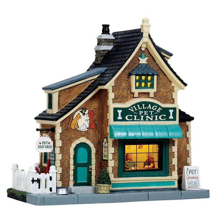 Lemax Caddington Village Lighted Building: Village Pet Clinic #55980 - American Sale